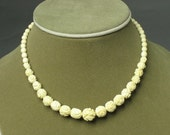 REAL ELEPHANT IVORY necklace from me - 1960s