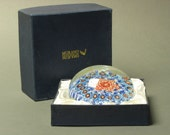 Extremely large Vintage MURANO Millifori -- millefiore Paperweight with box