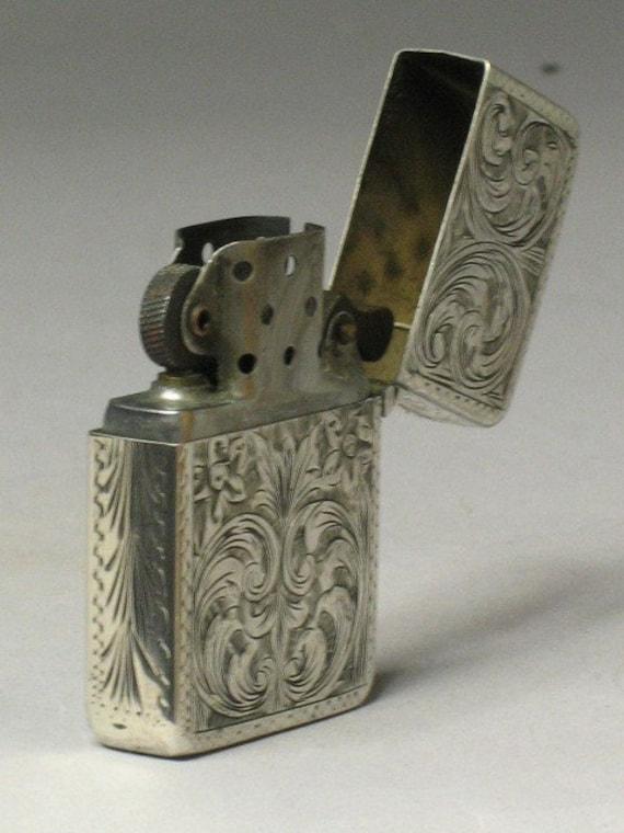 items similar to wonderful art nouveau engraved zippo lighter on etsy