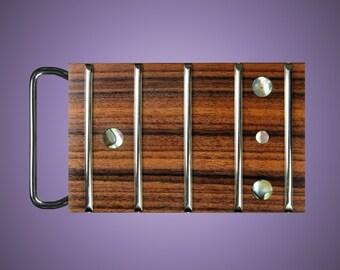 Guitar Fretboard Pao Ferro Belt Buckle
