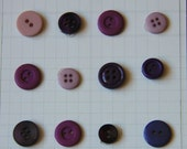 Purple and Lavender Buttons for Sewing, Scrapbooking, Crafts