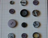 Gray Buttons for Sewing, Scrapbooking, Crafts