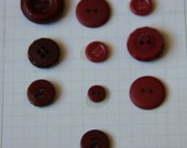 Burgundy buttons for Sewing, Scrapbooking, and Crafts