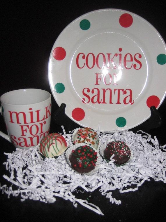 Milk And Cookies Plate Mug Combo For Santa