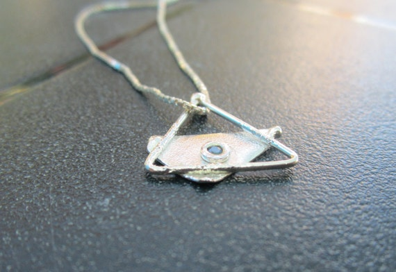 Magen David - Sterling Silver Pendant with Sapphire Handmade From Israel
