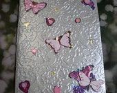 Silver Little Notebook with Butterflies