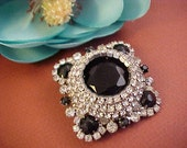 Fabulous Vintage Multi Rhinestone Heavy Brooch/Pin