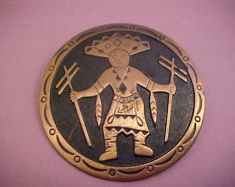 Vintage Southwest Design Copper Pin