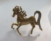 Vintage Rhinestone Horse Brooch Oh So Cute