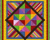 "HIPPY SHAKE - 50"" - Quilt-Addicts Pre-cut Quilt Kit or Finished Quilt Lap size"