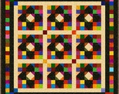 """NEMESIS - Double 71"""" x 71"""" or Lap 57"""" x 57"""" - Quilt-Addicts Pre-cut Quilt Kit or Finished Quilt"""