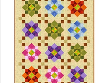 """MORNING AGAIN - 63"""" x 49"""" - Quilt-Addicts Pre-cut Patchwork Quilt Kit or Finished Quilt Single size"""