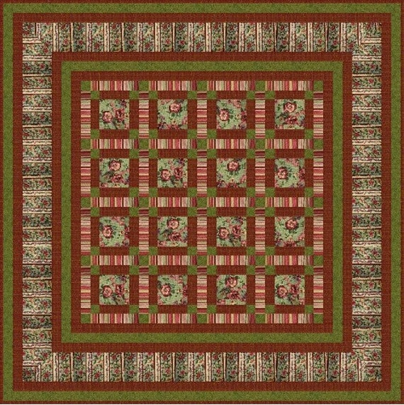 """ZSA ZSA - 62.5"""" - Quilt-Addicts Pre-cut Quilt Kit or Finished Quilt Double size"""