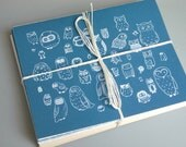 A Parliament of Owls - Set of 8 Owl Notecards - 2 Designs