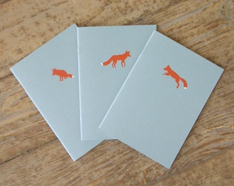 Fox Notebooks - Set of 3 Cahiers
