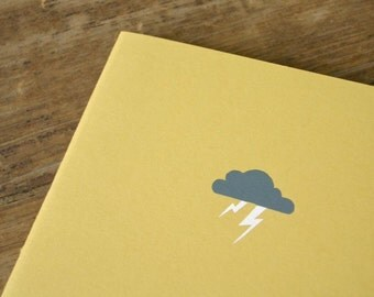 Thunder Cloud Notebook - Lightning Cahier