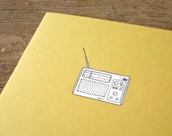 Radio Notebook - Vintage Radio Cahier