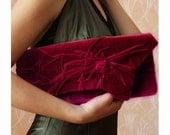 Love -Burgundy, Morello cherry clutch  Elegant and retro Clutch Bag in vintage style, Unique, Handmade