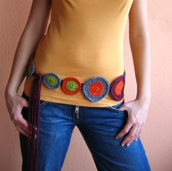 Sale   - Fresh and Funky Belt with Circles - Suitable to every size- S, M, L, XL, XXL