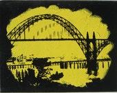 Yaquina Bay Bridge OR Black/Yellow