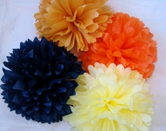 Set of 20 Tissue Poms.....Get 2 extra FREE........Pick Your Colors