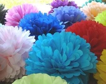 Set of 30 Large Tissue Paper Poms.....Wedding Reception / Party Decoration / Bar Mitzavah / Birthday .