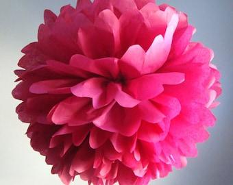 Valentines Day Decor - 1 tisse paper pom / tissue paper flower/ wedding decor/ nursery decor/ 1st birthday decor