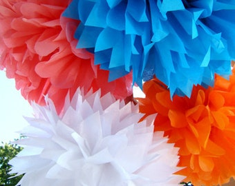 Set of 27 Tissue Paper Poms ........Pick Your Colors