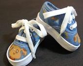 Puppy Denim Canvas Lace Up Shoes
