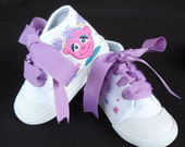 White Abby Cadabby High Top Hand Painted Children's Shoes