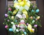 Easter Wreath Spring Wreath Designer Door Wreath Bunny Wreath Easter Eggs XL