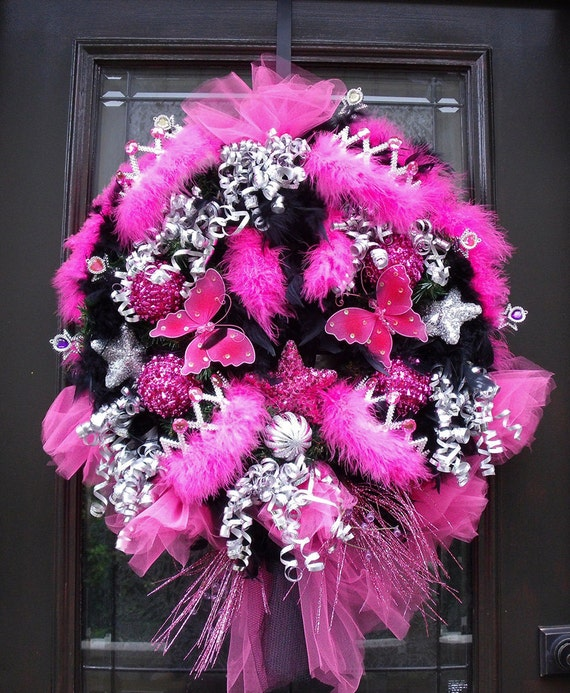 Reserved Princess Wreath Door Wreath Girly Party Decoration