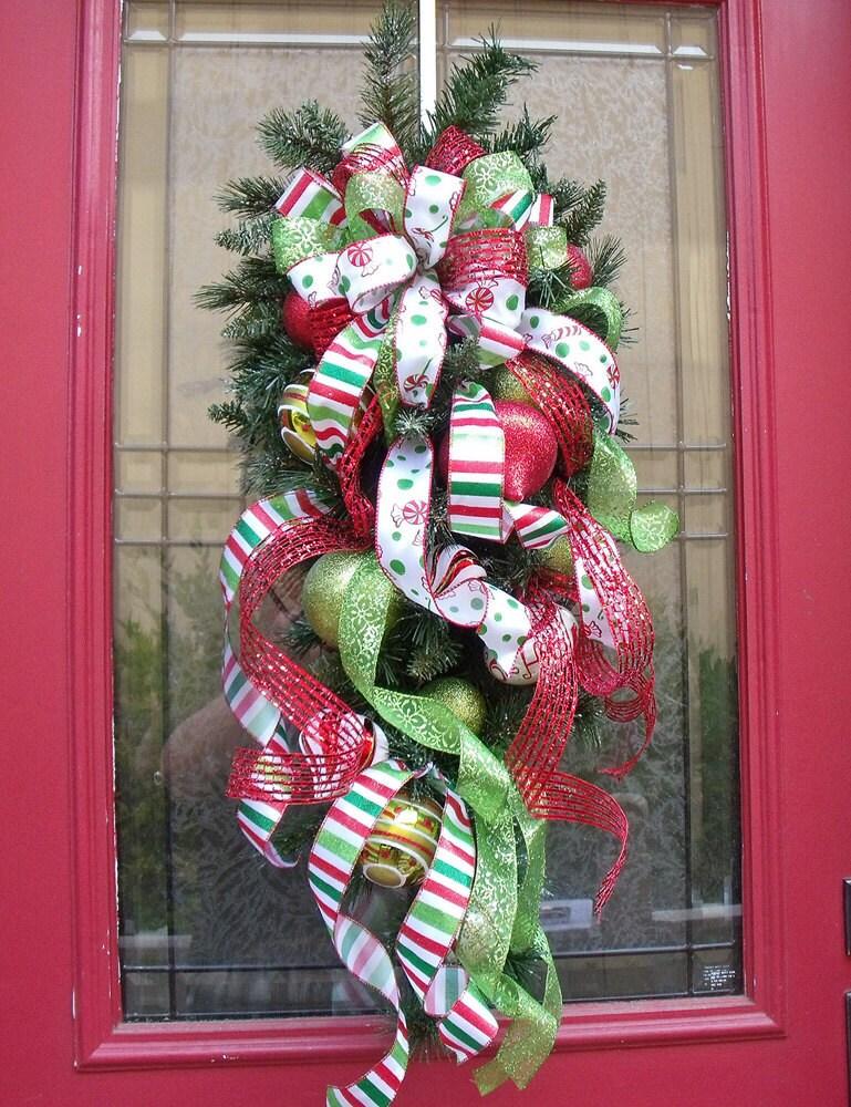 Christmas Wreath Cascade I Wish it Was Christmas Swag