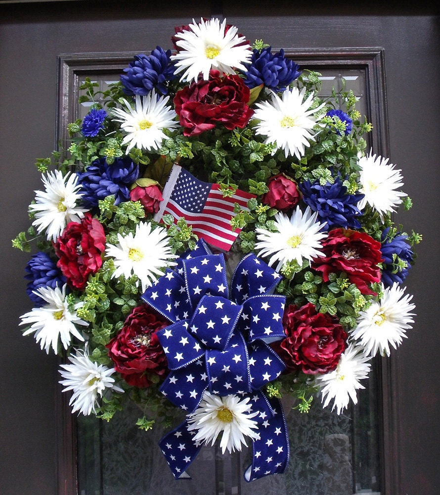 Memorial Day Wreath 4th Of July Wreath Patriotic Wreath
