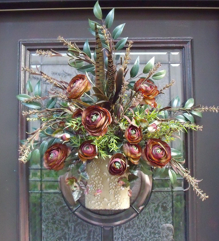 Summer Door Wreath Wall Floral Arrangement Fall Wreath Flower