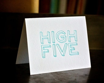 High Five Letterpress 5 Card Pack