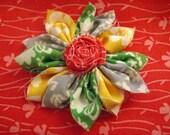Fabric Flower Pin (free US shipping)