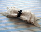 Linen Hair Clip, free US shipping