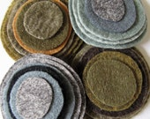 Felt magnetic button/brooch- a mix of Earth-tones and Stone colors