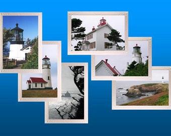 Oregon Lighthouse Sampler   Photo Note Cards