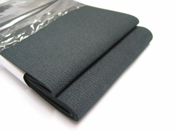 4' in, 2yds Knitted Elastic - black or white
