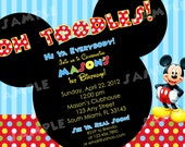 PRINTABLE Mickey Mouse Birthday Invitation -  4x6 or 5x7 Digital File