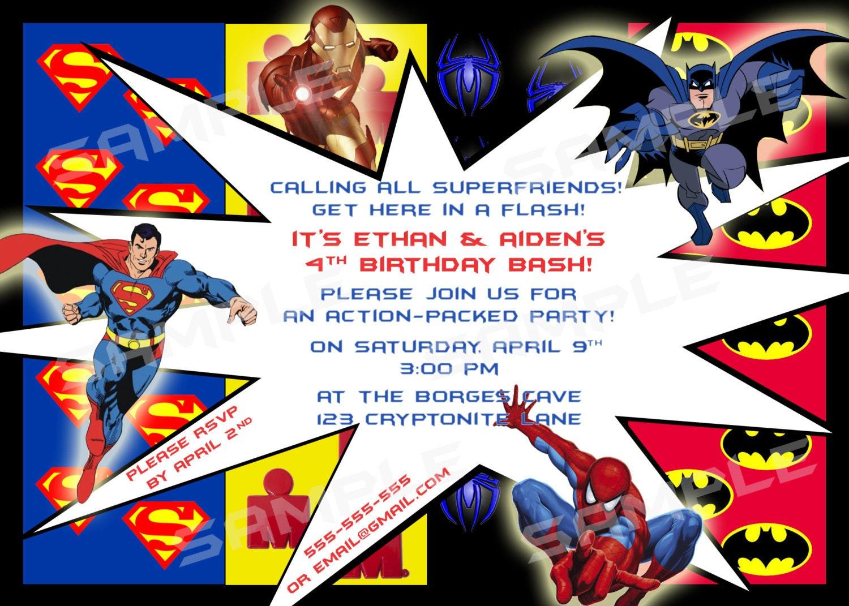 Superhero Mania Birthday Diy Printable Party By Modpoddesigns