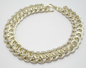 SALE Gold and Silver Copper Chainmaille Bracelet