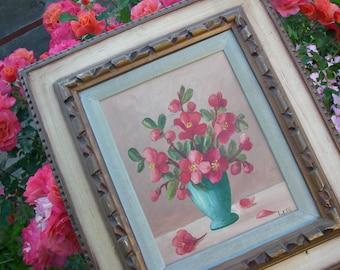 Vintage Flower Bouquet Picture Frame Art