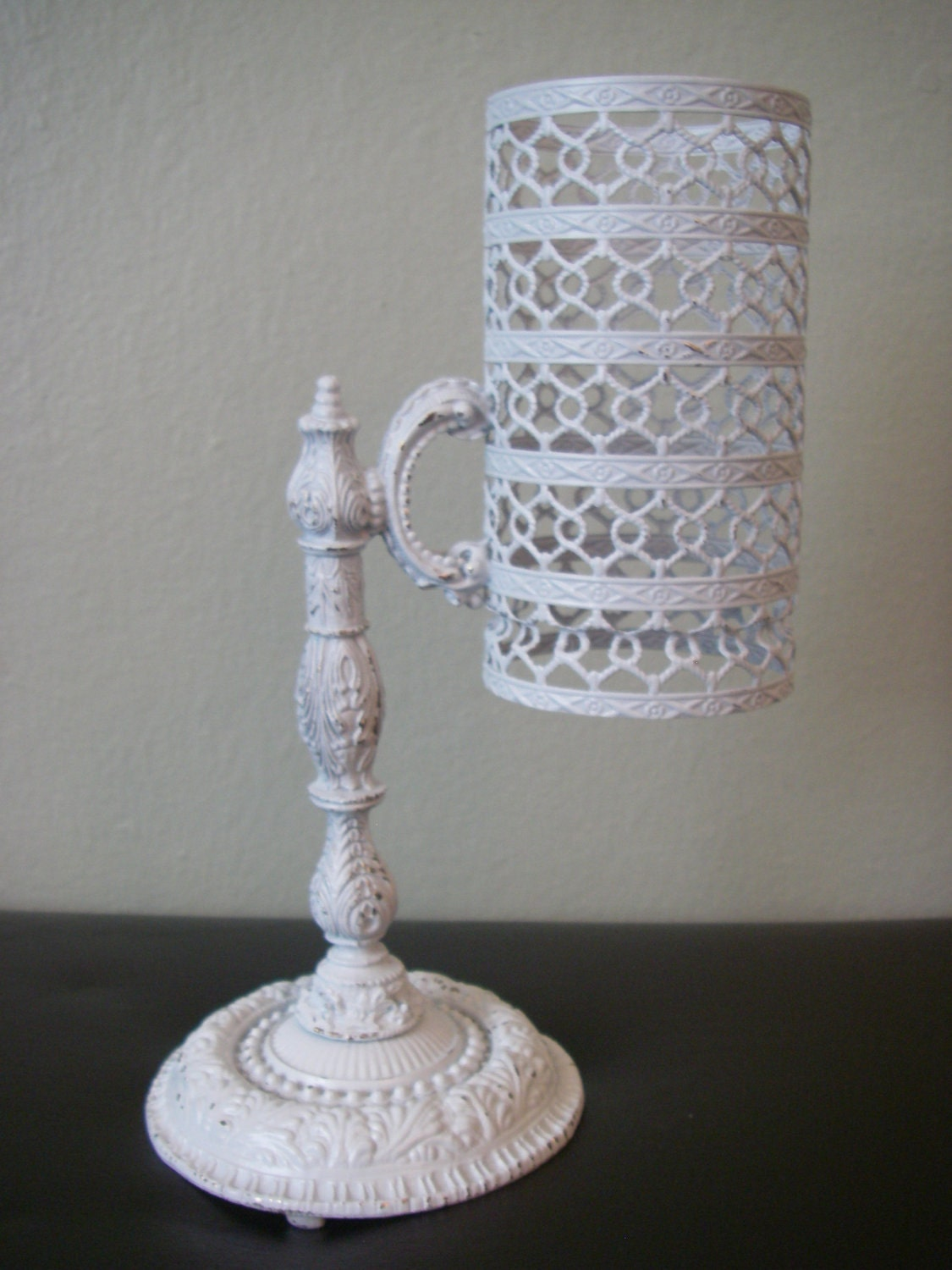 Vintage Filigree Dixie Cup Holder Dispenser By