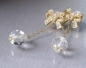 Dazzling Ribbons Crystal Earrings