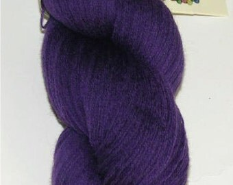 Purple recycled pure merino wool yarn lace weight