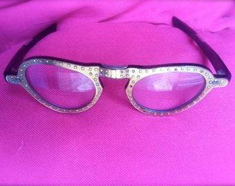 50s Cat Eye Glasses Rhinestone