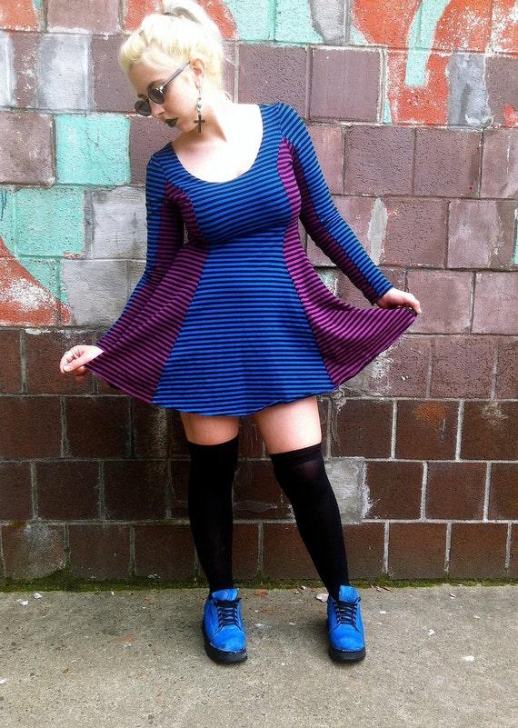 90s Stripe Betsey Johnson Dress Large